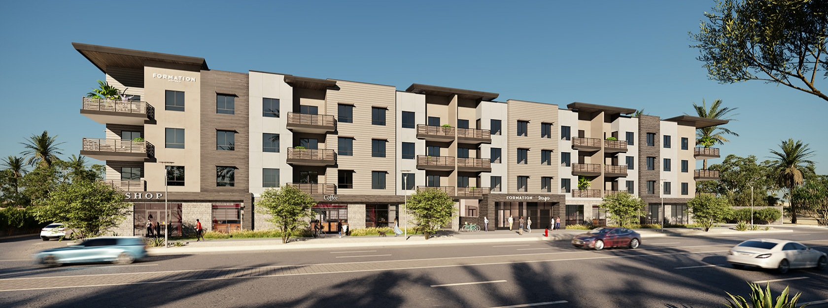 exterior rendering of Formation apartments