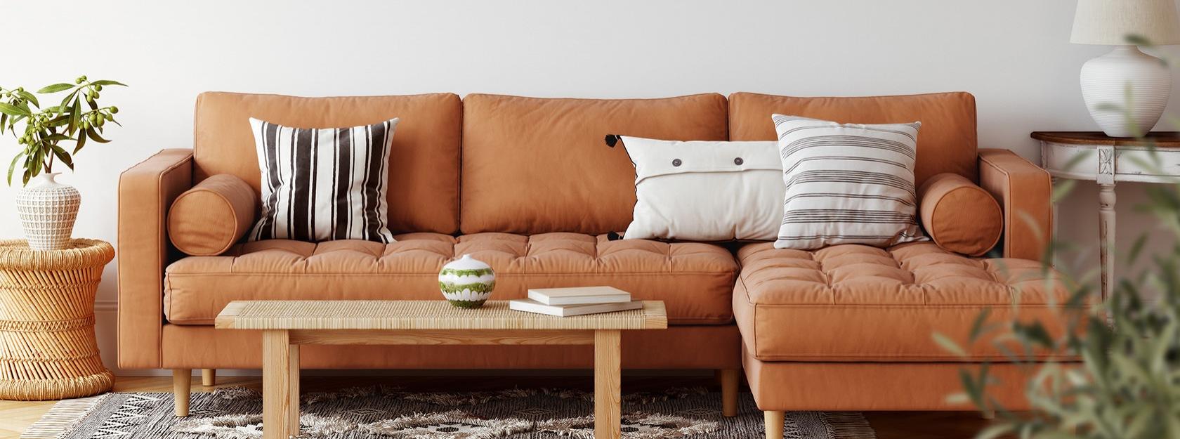 well lit, furnished living room