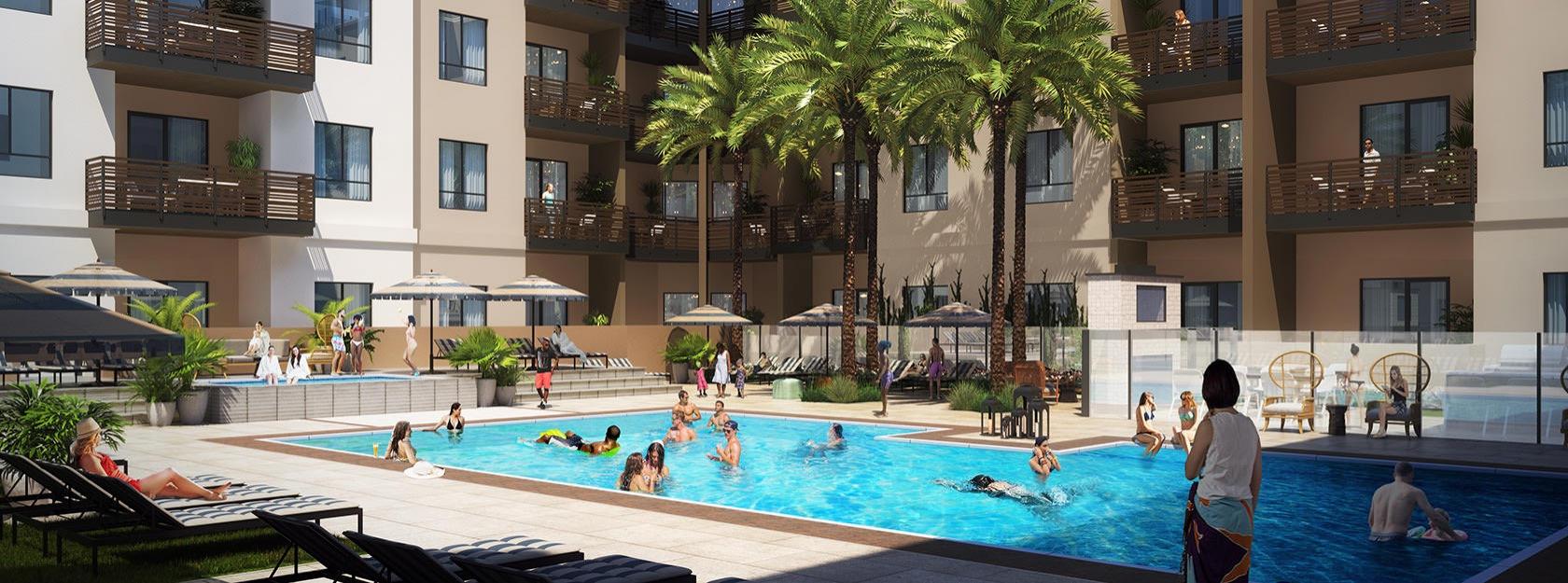 rendering of swimming pool